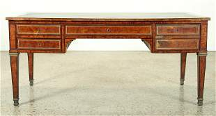 FRENCH LEATHER TOP DESK LOUIS XIV STYLE C. 1900