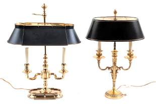 TWO BUILLOTTE TABLE LAMPS CIRCA 1980