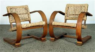 PAIR ARM CHAIRS BY ADRIEN AUDOUX AND FRIDA MINET