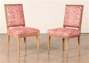 PAIR LATE 19TH C. LOUIS XVI STYLE SIDE CHAIRS