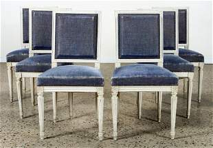 SET 6 FRENCH LOUIS XVI STYLE DINING CHAIRS C.1940