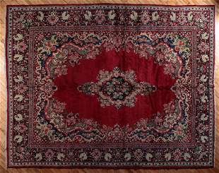 SEMI ANTIQUE PERSIAN MAHAL RUG