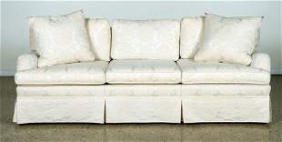 UPHOLSTERED SOFA WITH LOOSE CUSHIONS C.1990