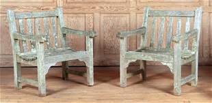 PAIR OF TEAK ARM CHAIRS BY SMITH & HAWKEN