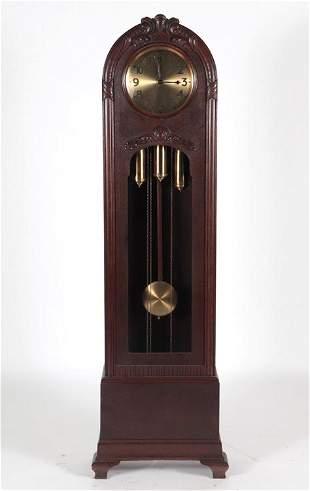 GERMAN JUNGHANS GRANDFATHER CLOCK CIRCA 1920