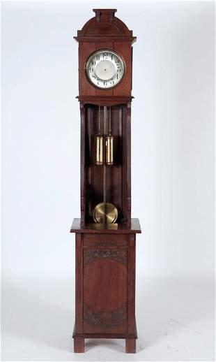 GERMAN JUNGHANS GRANDFATHER CLOCK CIRCA 1910