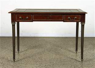 FRENCH MAHOGANY LEATHER TOP WRITING DESK C.1940