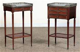 PAIR FRENCH DIRECTOIRE STYLE MAHOGANY NIGHT STANDS