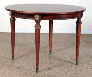 ROUND FRENCH MAHOGANY DINING TABLE C.1950