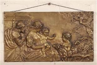 PRESENTATION OF THE CHRIST CHILD BRONZE PLAQUE