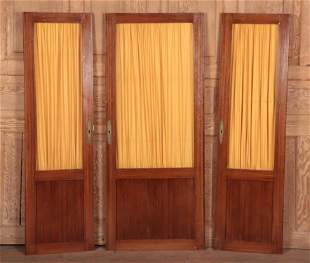 SET 3 FRENCH MAHOGANY CABINET DOORS C.1900