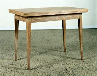FRENCH FLIP TOP CERUSED OAK GAMES TABLE C. 1945