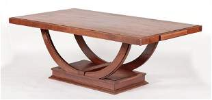 FRENCH OAK DINING TABLE BY RENE GABRIEL C.1940