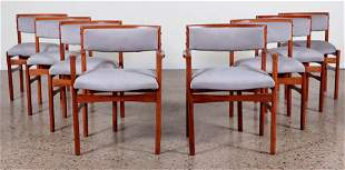 SET OF EIGHT DANISH STYLE DINING CHAIRS C. 1950