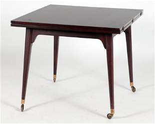 FLIP TOP GAMES/DINING TABLE C. 1950 LABELED DUNBAR