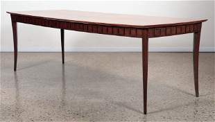 MID CENTURY DINING TABLE WITH WALNUT TOP