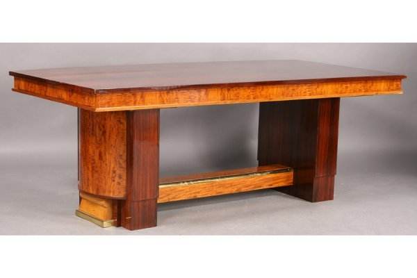 4: FRENCH ART DECO DINING TABLE PEDESTAL