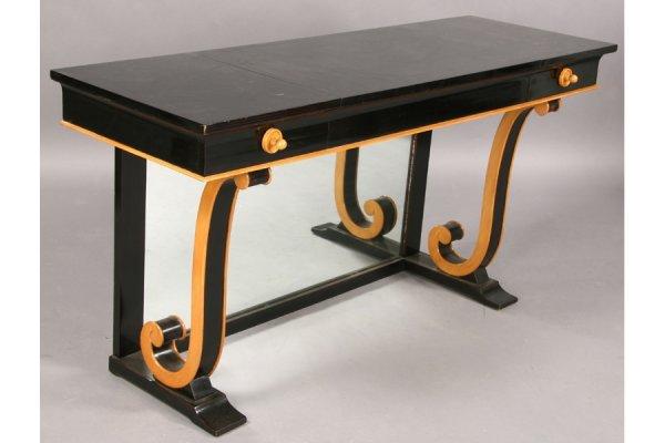 9: ART DECO EBONIZED DECOENE FRERE DRESSING TABLE