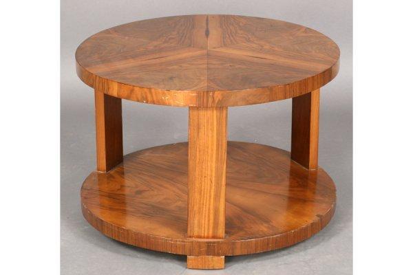 14: ART DECO OCCASSIONAL TABLE WALNUT VENEER