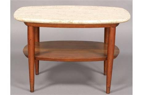 136: Phillip Lloyd Powell NEW HOPE WALNUT END TABLE