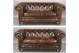 552 PR ENGLISH STYLE LEATHER CHESTERFIELDS SOFAS
