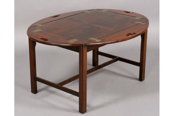 562: ANTIQUE ENGLISH MAHOGANY BUTLER TRAY COFFEE TABLE - 2