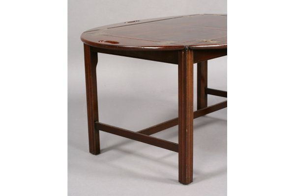 562: ANTIQUE ENGLISH MAHOGANY BUTLER TRAY COFFEE TABLE - 5