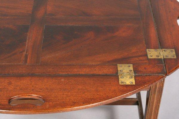 562: ANTIQUE ENGLISH MAHOGANY BUTLER TRAY COFFEE TABLE - 7