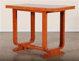 AUSTRIAN BURL WOOD FLOP TOP GAMES TABLE C.1910