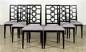 6 WOOD DINING CHAIRS 1960 MANNER PARZINGER