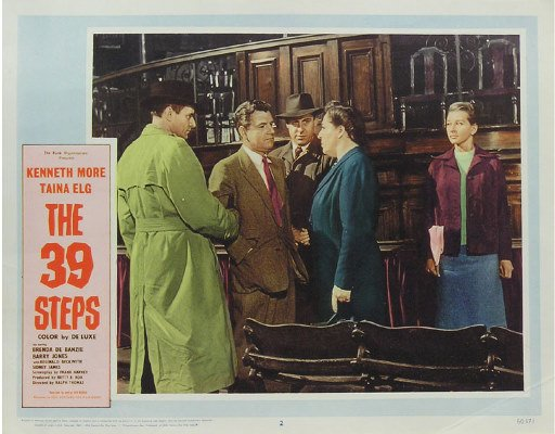50081015: 10 LOBBY CARDS INCLUDING THE 39 STEPS.