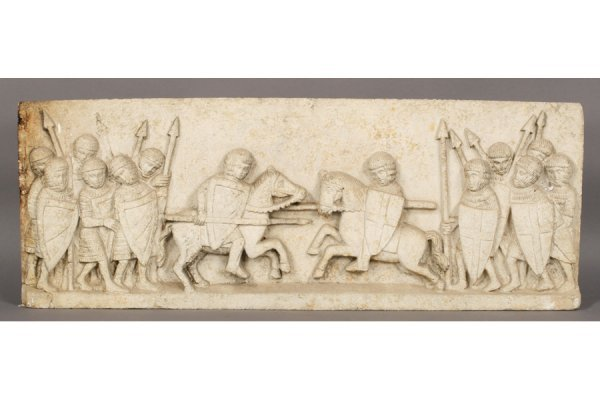 7: CAST STONE MEDIEVAL WALL MOUNTED GARDEN PLAQUE