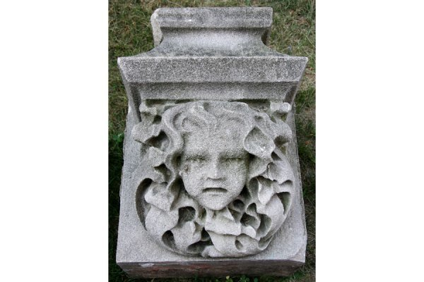 66: ANTIQUE CARVED LIMESTONE GARGOYLE ARCHITECTURAL