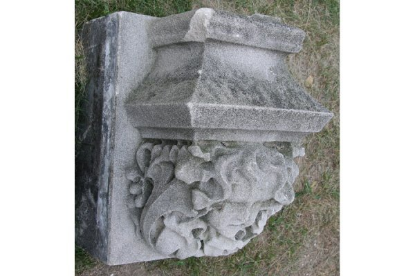 66: ANTIQUE CARVED LIMESTONE GARGOYLE ARCHITECTURAL - 2
