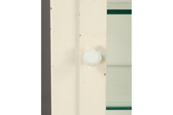 491: VINTAGE STEEL MEDICAL CABINET GLASS FRONT DOOR - 4
