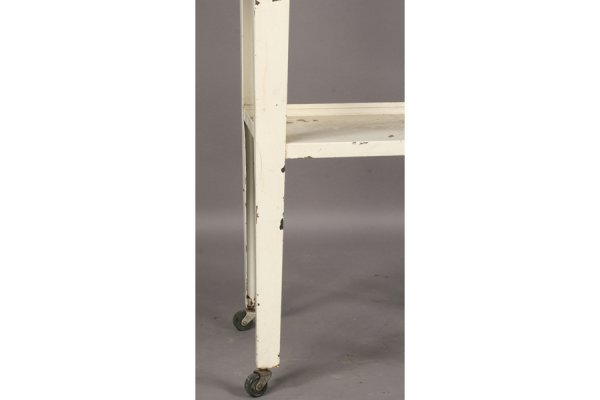 491: VINTAGE STEEL MEDICAL CABINET GLASS FRONT DOOR - 5