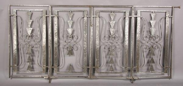 3: 4 FRENCH ART DECO FER FORGE IRON GATE PANELS