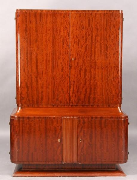 14: ART DECO 4 DOOR CABINET C. 1940
