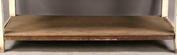 415: VINTAGE POTTING TABLE ZINC TOP 2 DRAWERS - 4