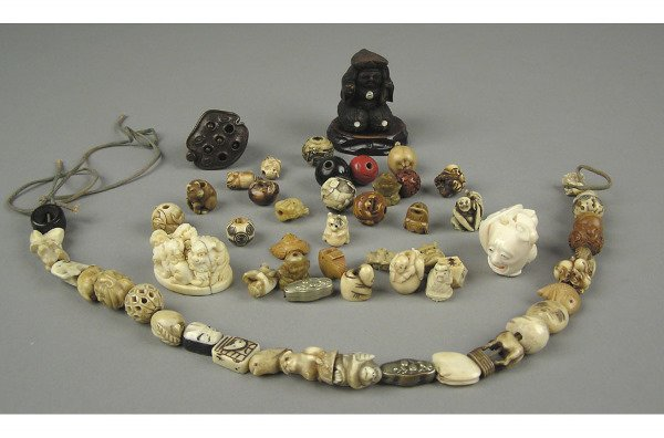 50102001: 5 PIECE LOT OF JAPANESE CARVED ITEMS.
