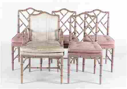5 FAUX BAMBOO CHAIRS