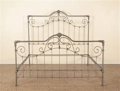 A KING SIZE IRON BED FRAME