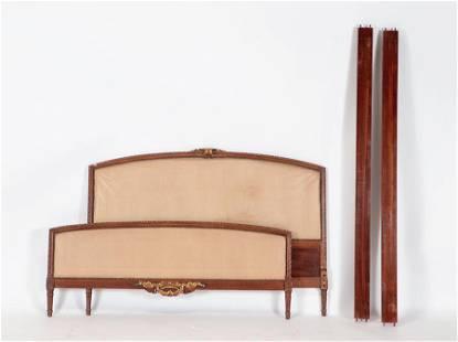 GILTWOOD QUEEN BED LOUIS XVI STYLE CIRCA 1930