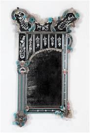 VENETIAN GLASS MIRROR CIRCA 1920
