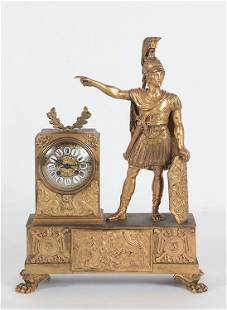 LARGE 19TH C. BRONZE FRENCH CLOCK