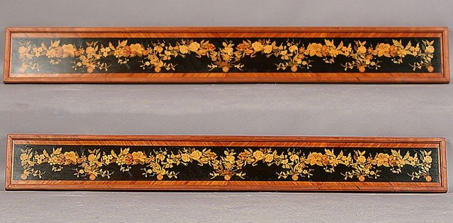 6: PR LG FRENCH INLAID PANELS FLORAL DESIGNS
