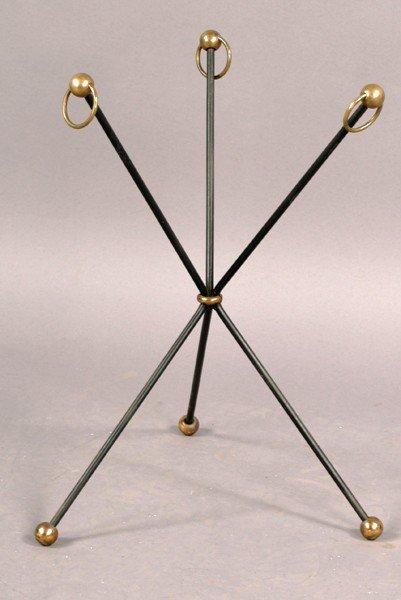 4: FRENCH ROYERE WROUGHT IRON BRONZE SIDE TABLE