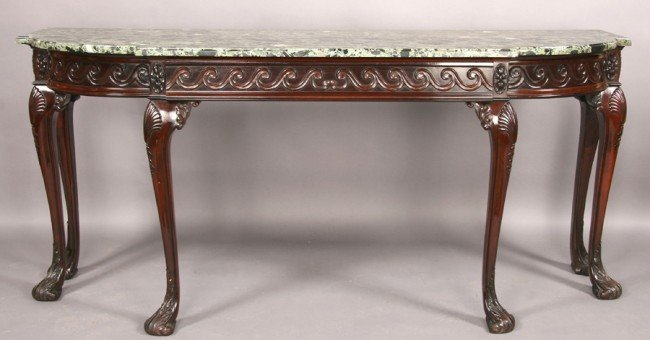 265: ANTIQUE CHIPPENDALE STYLE MAHOGANY CONSOLE