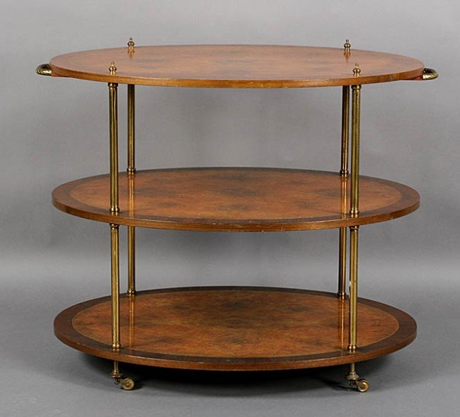 266: VINTAGE REGENCY STYLE 3 TIER SERVING CART