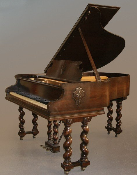 271: RARE ANTIQUE MAHOGANY STEINWAY GRAND PIANO M
